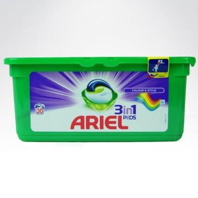 Ariel 3w1 żelowe kapsułki do prania - 30 prań kolor
