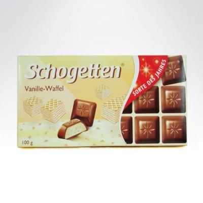 Schogetten vanille waffel 100g czekolada