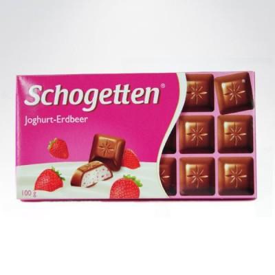 Schogetten joghurt erdbeer 100g czekolada
