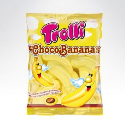 Trolli choco bananas mallow pianki 150g banan