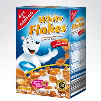 GG płatki śniadaniowe 750g White Flakes(Biały miś)