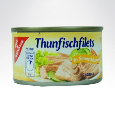 GG tuńczyk w puszce 185g Żółty