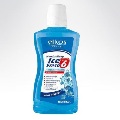 Elkos płyn do higieny jamy ustnej Ice Fresh 500ml